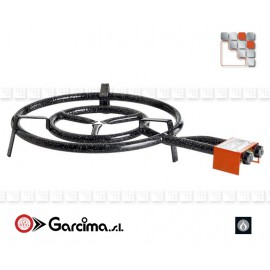 BRULEUR A PAELLA 50CM 2 RAMPES SANS THERMOCOUPLE