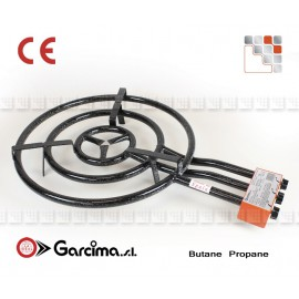 BRULEUR A PAELLA 60CM 3 RAMPES SANS THERMOCOUPLE