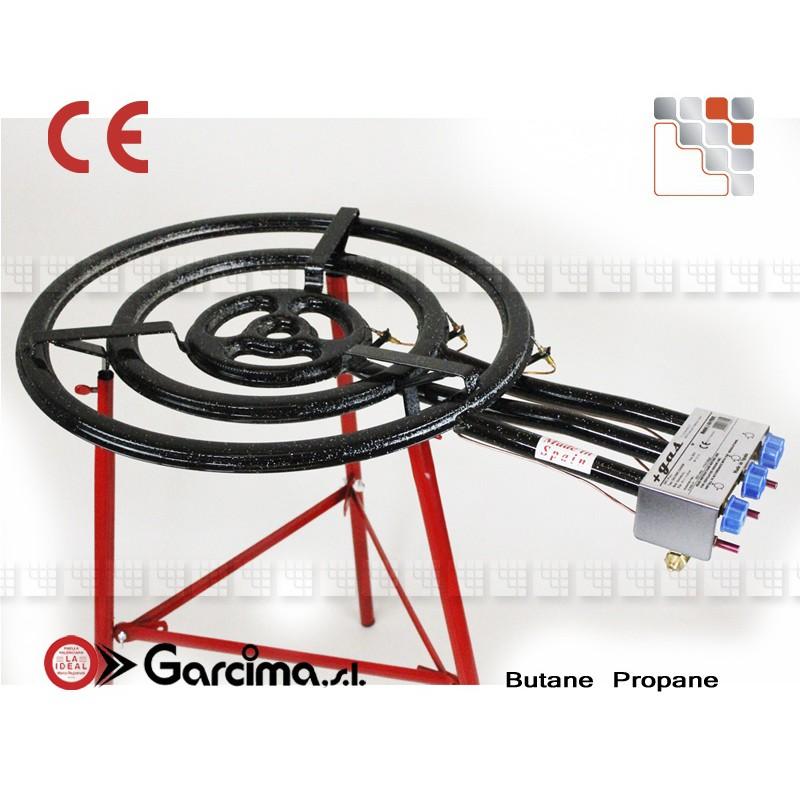 bruleur a paella 80cm 3 rampes thermocouple pieds lp. Black Bedroom Furniture Sets. Home Design Ideas
