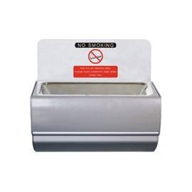 CENDRIER MURAL INOX 100 X 100 X H 100MM
