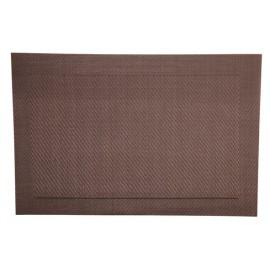 set de table platique lavable brun 45x30 a la piece lp horeca. Black Bedroom Furniture Sets. Home Design Ideas
