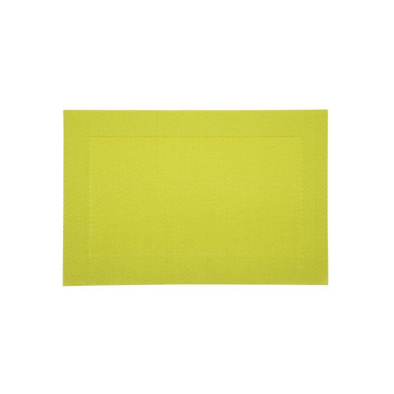 set de table plastique lavable vert 45x30 a la piece lp. Black Bedroom Furniture Sets. Home Design Ideas