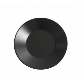 assiette noire mat asia 21 cm a la piece lp horeca. Black Bedroom Furniture Sets. Home Design Ideas