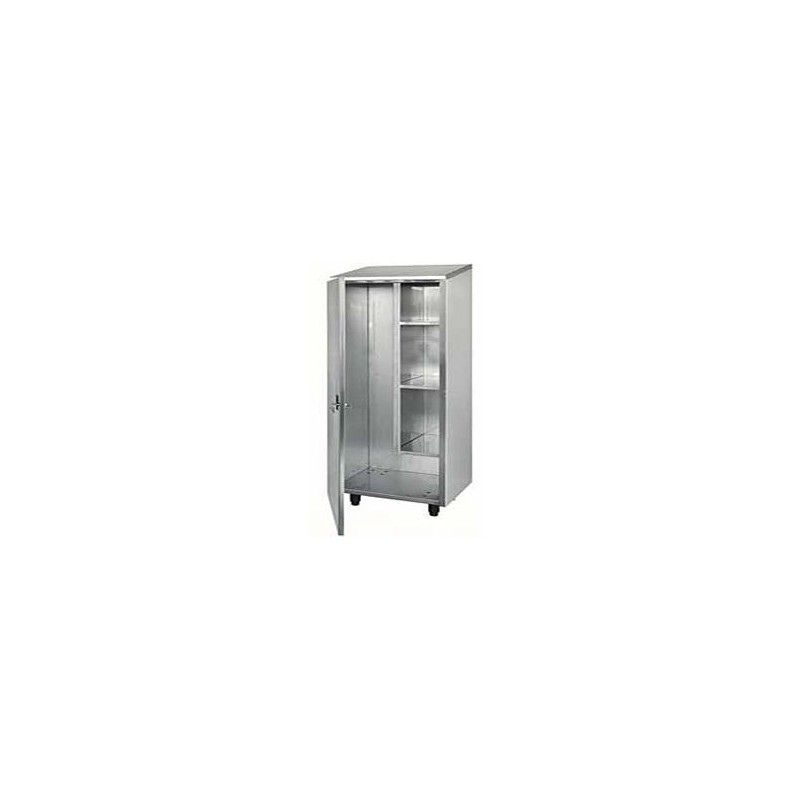 armoire de rangement inox a balais avec 1 porte battante lp horeca. Black Bedroom Furniture Sets. Home Design Ideas
