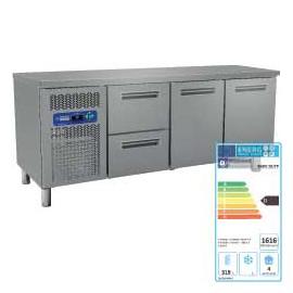table frigo ventilee 2 portes 1 bloc de 2 tiroirs table refrigeree. Black Bedroom Furniture Sets. Home Design Ideas