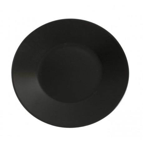 Assiette Noire Mat : assiette noire mat asia 27 5 cm a la piece lp horeca ~ Teatrodelosmanantiales.com Idées de Décoration
