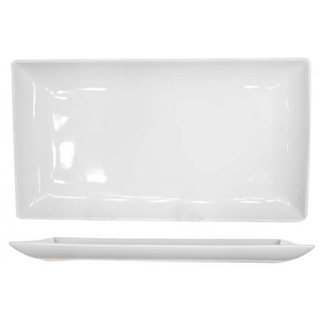 assiette blanche rectangulaire 33x18 a la piece lp horeca. Black Bedroom Furniture Sets. Home Design Ideas